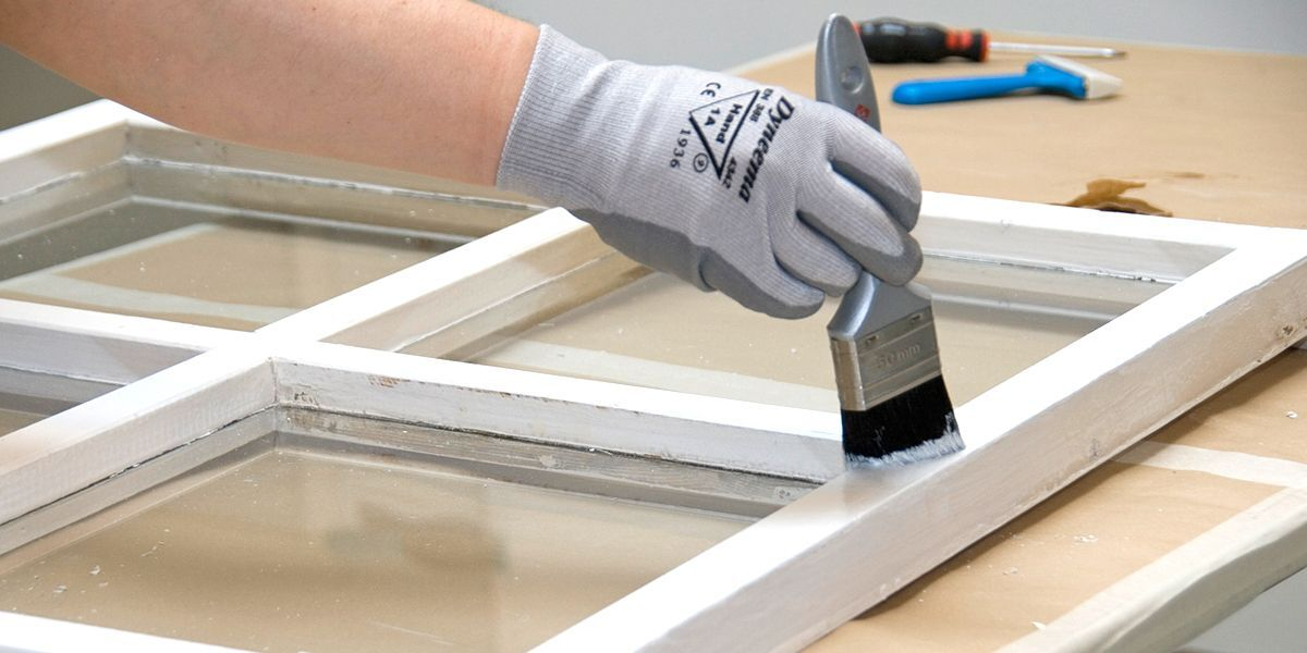Painting window frames