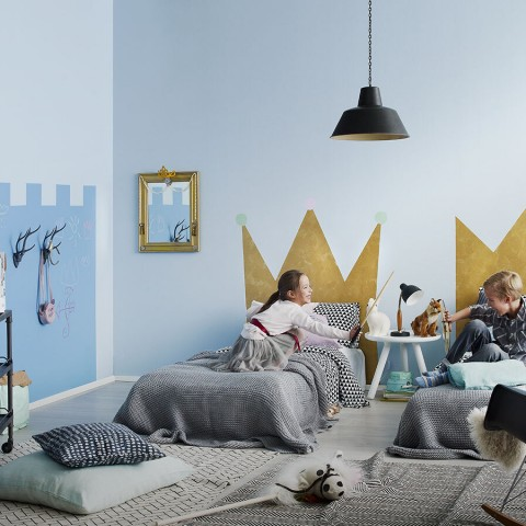 kids' princess playroom wall